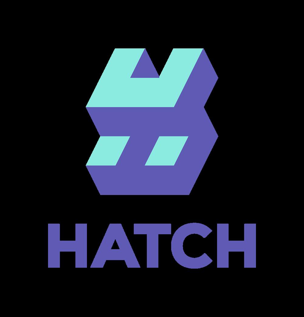 Hatch emblem and wordmark vertical