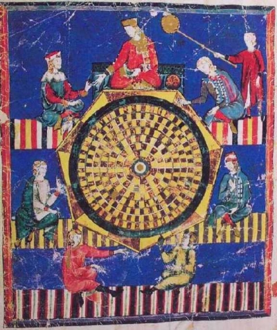 The hottest realtime multiplayer game of 1283, as depicted in the  Book of Games.  (Image via Wikimedia Commons and shared under Creative Commons Attribution-ShareAlike License.)