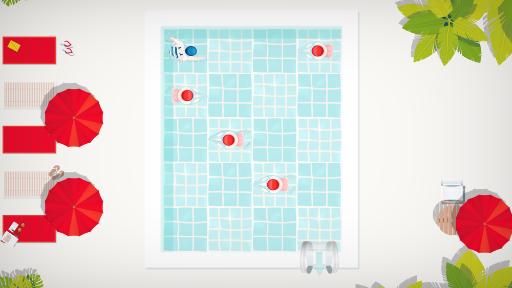 A puzzle in the pool