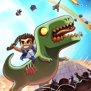 Because you've always wanted to hunt zombies with a shotgun while riding a dinosaur