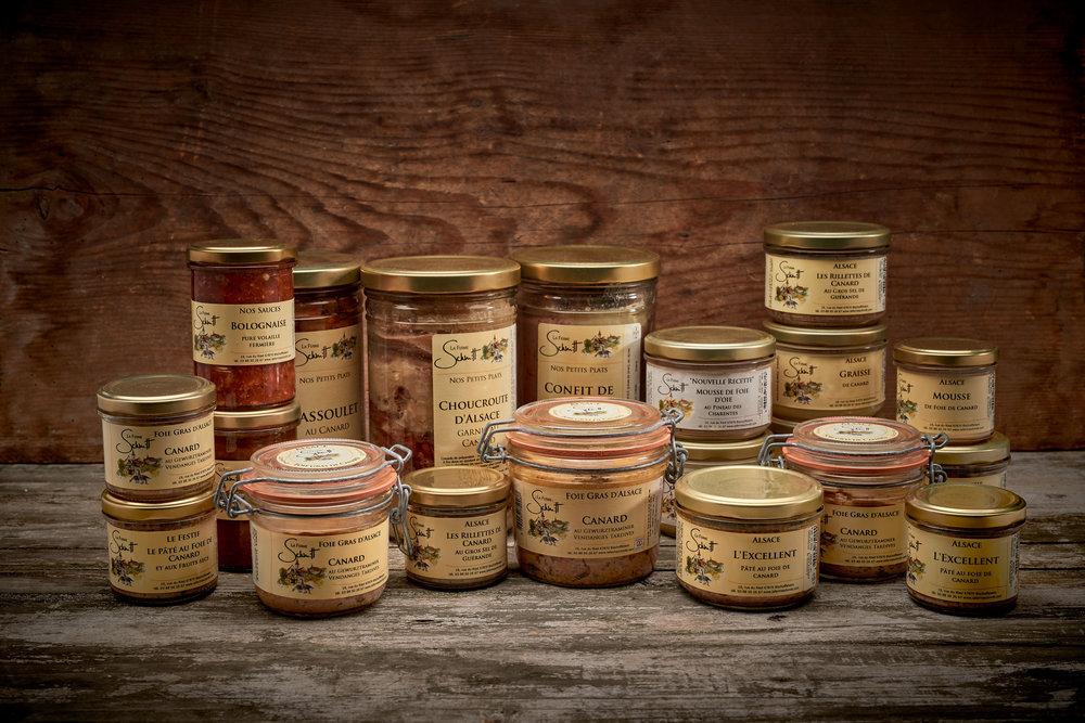 Produits d'épicerie de canard