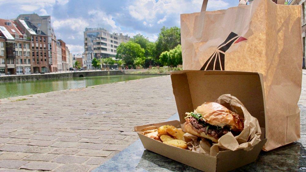 Le burger magret de Canard Street