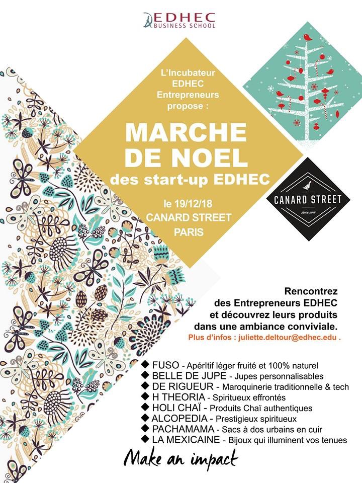marche de noel edhec Paris canard street startup foie gras epicerie fine restaurant canard