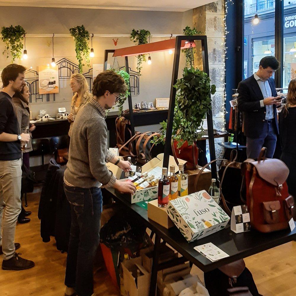 marché de noel edhec canard street startup Paris