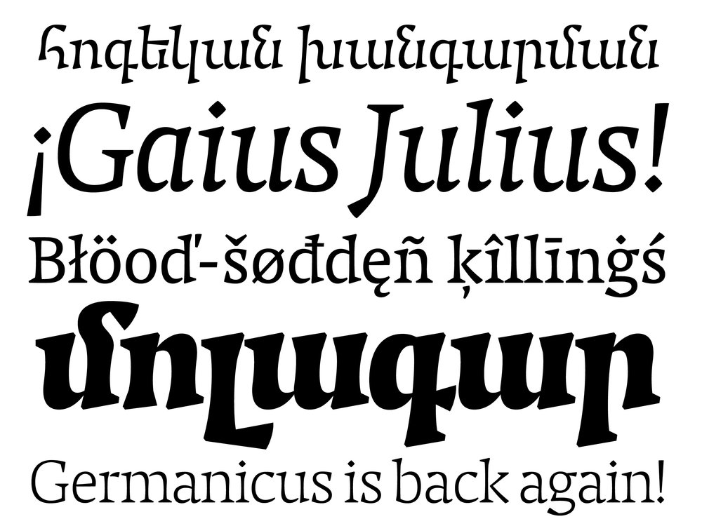 Caligula Typeface Family
