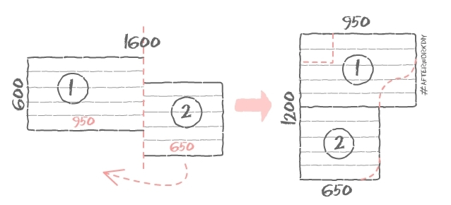 Продольные серые полосы показывают направление склейки бруса в мебельном щите