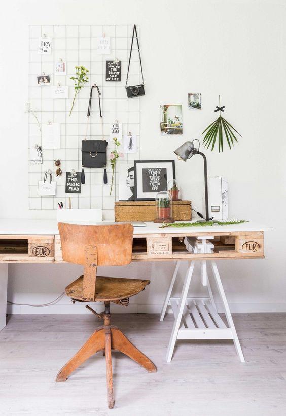 еще одна квартира в Дании со столом и кроватью из паллет