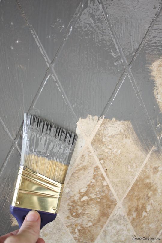 Перекраска старой керамической плитки