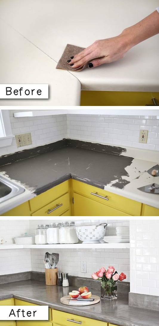15.-Update-laminate-countertops-with-a-concrete-finish.-14.-Use-Rust-Oleum-to-paint-outdated-brass-faucets-and-fixtures-27-Easy-Remodeling-Projects-That-Will-Completely-Transform-Your-Home-.jpg