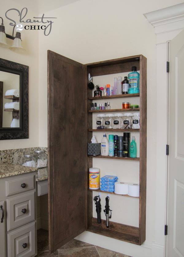 навесной шкафчик в ванную своими руками  источник
