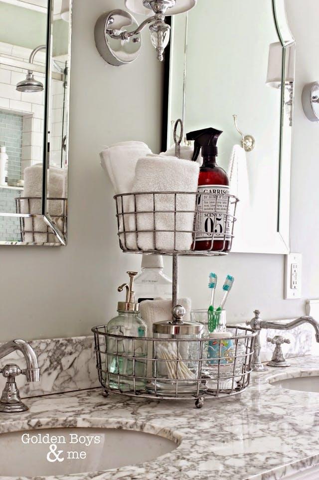 этажерка для хранения косметики в ванной  источник