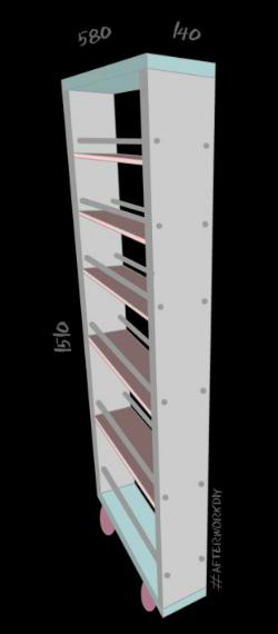 Конструкция выдвижной полки для специй за холодильником