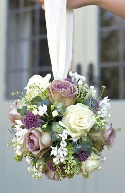 современный свадебный букет шар