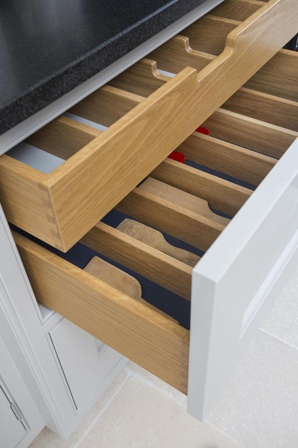 кухонные двухуровневые выдвижные ящики  источник