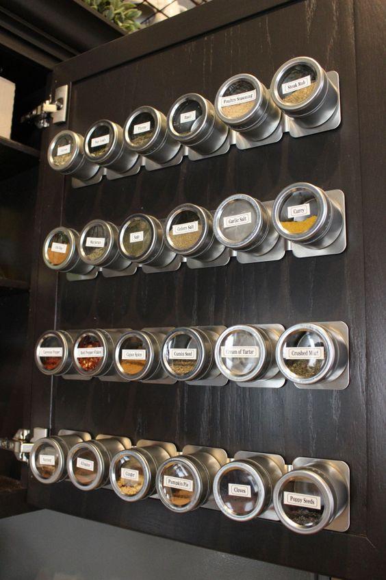специи  на  магнитной планке  на обратной стороне дверцы  источник