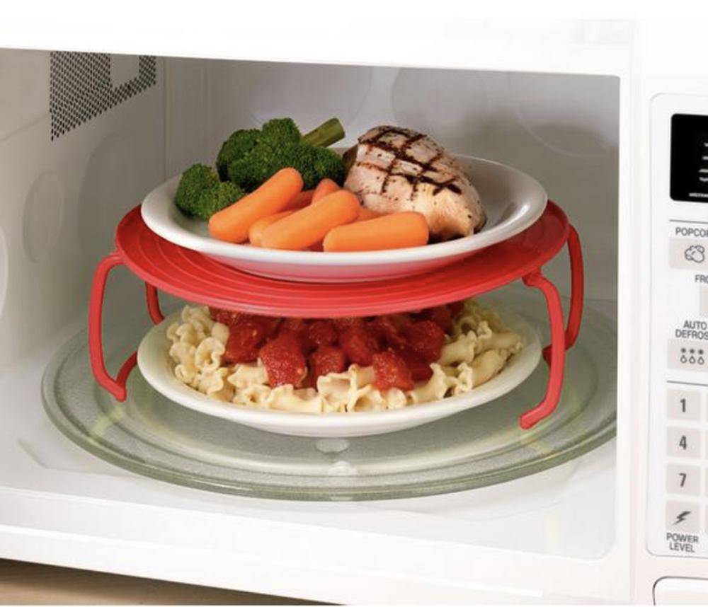 штабелируемая подставка для тарелок для микроволновки