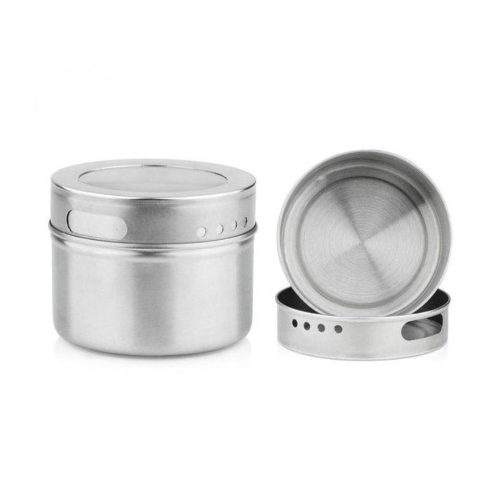 металлические контейнеры на магнитах баночки для специй