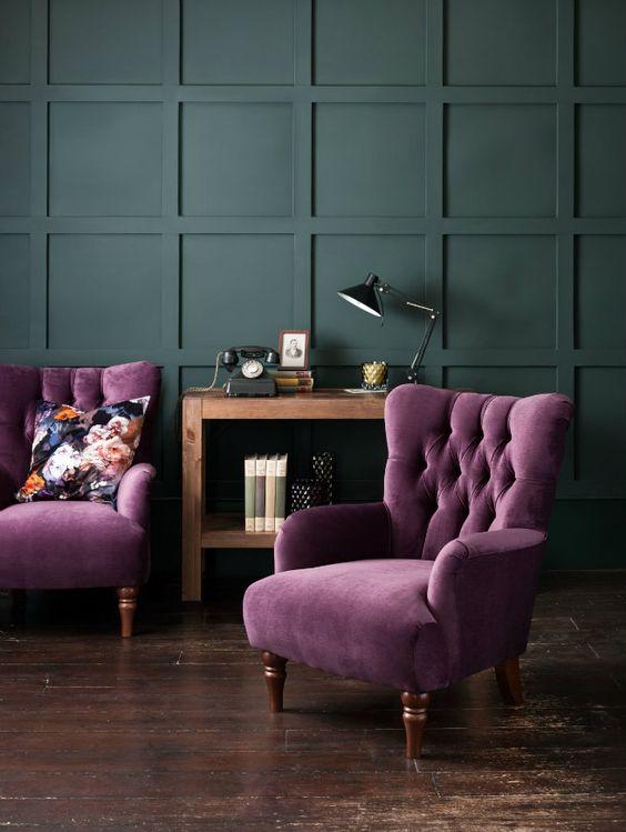фиолетовое кресло  источник