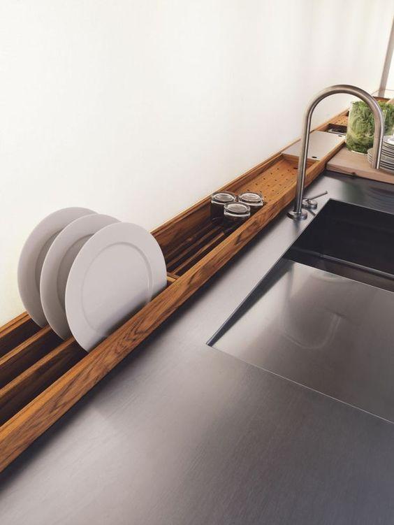 деревянная сушилка для посуды  источник