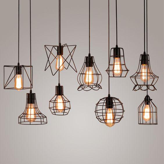 индустриальные проволочные плафоны светильники  источник