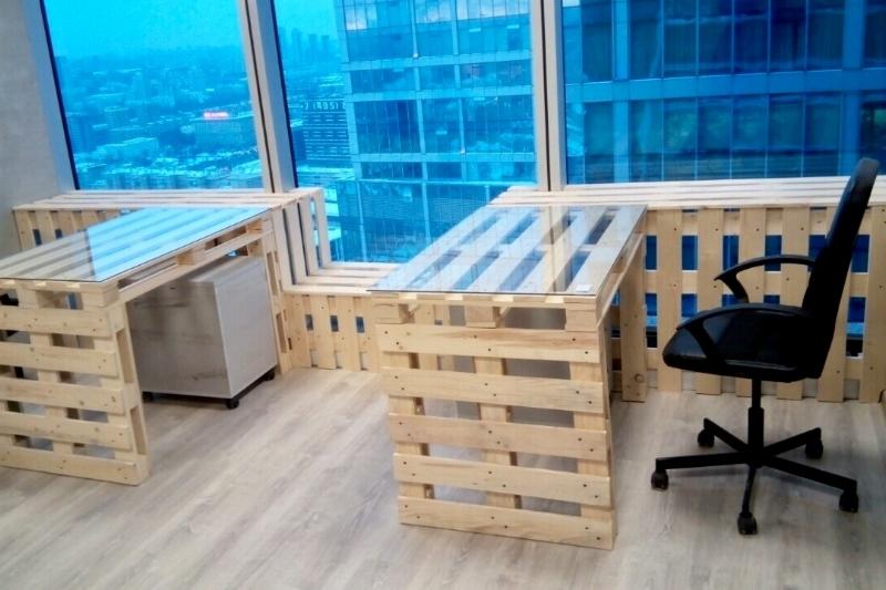 компьютерный стол из поддонов фото чертежи размеры инструкция