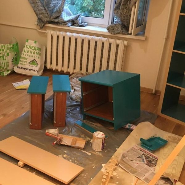 Перекраска мебели из ДСП