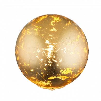 настольный светильник золотой шар