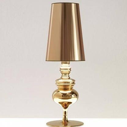 настольный светильник золотой