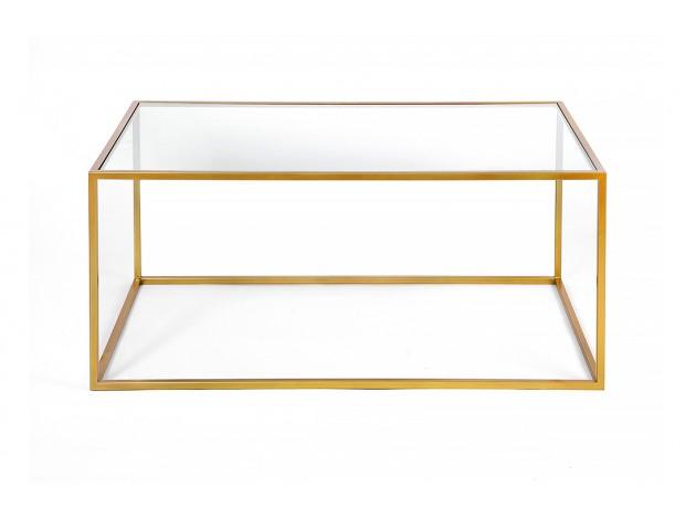 золотой металлический кофейный журнальный столик