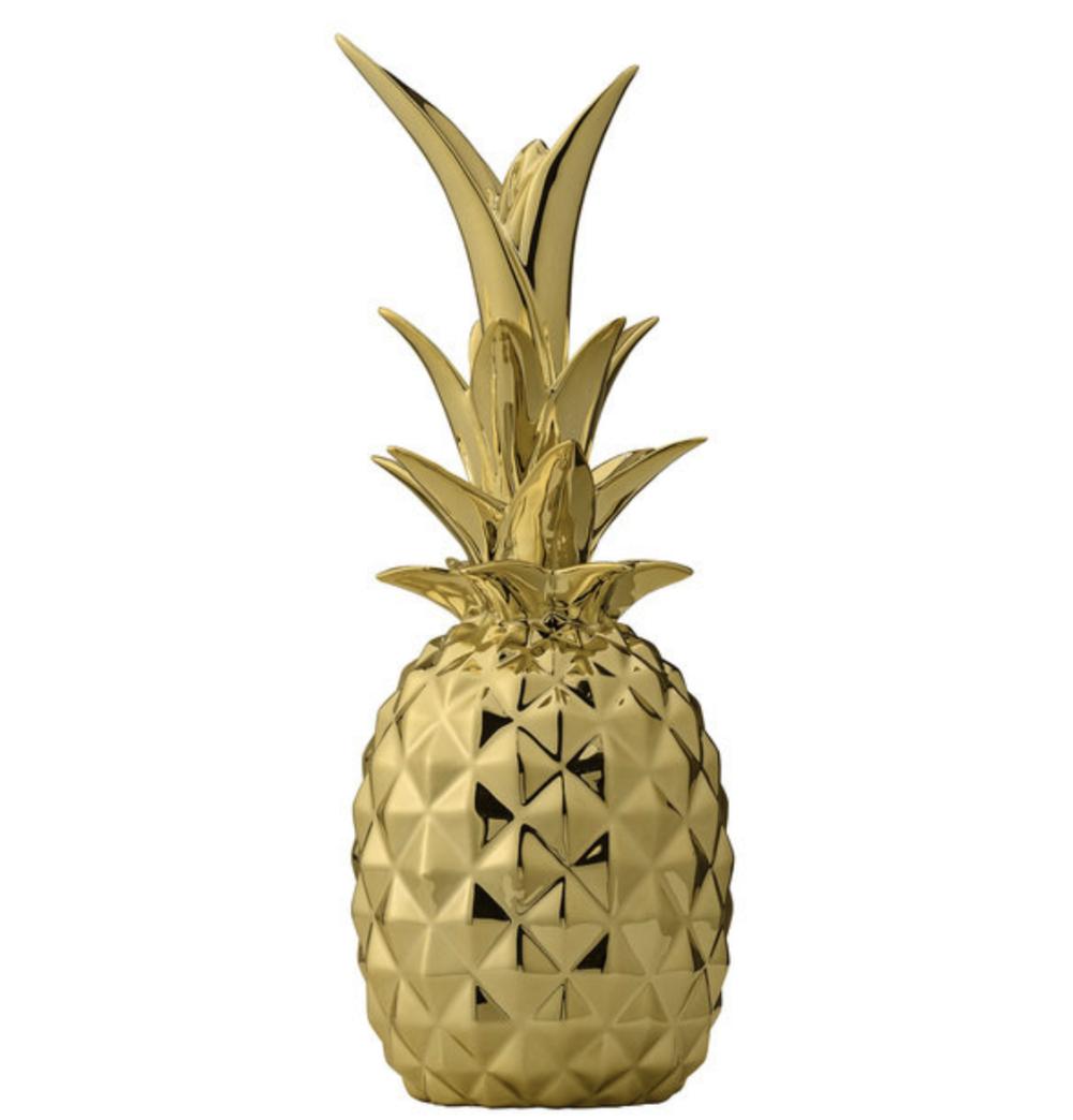 интерьерный декор золотой ананас