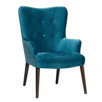 сине-зеленое велюровое креслоHD2203282KD-BBD