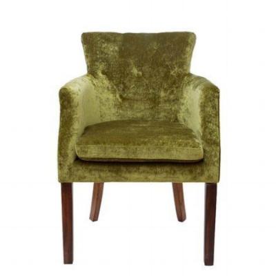велюровое зеленое кресло