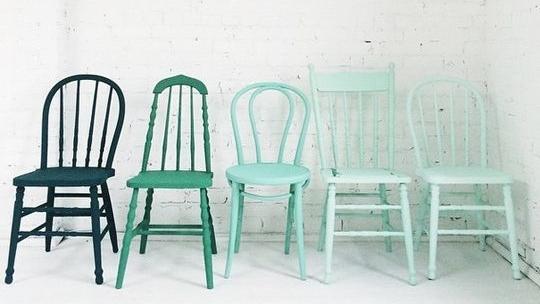 эффект омбре в оформлении мебели  источник