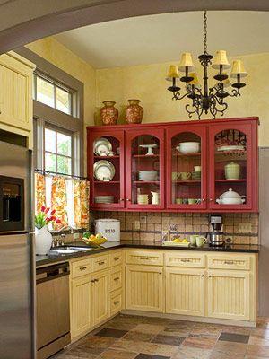 красно-желтая кухня источник