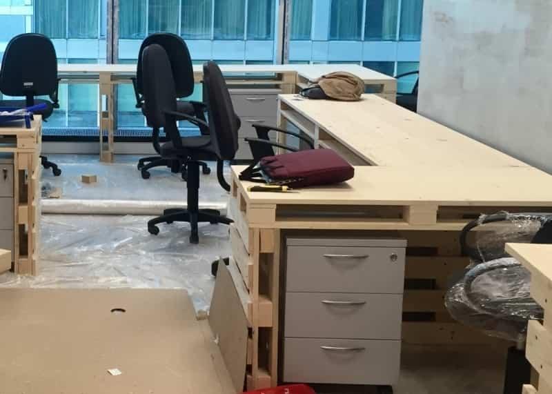 Деревянные столы из поддонов