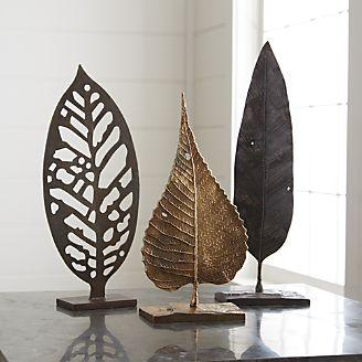 настольный декор в виде листьев  источник