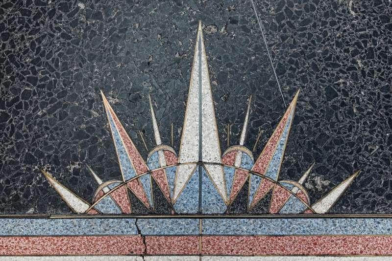 шикарные мозаичные полы терраццо начала 30-х годов, дамба Гувера США  источник
