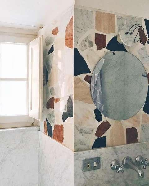 терраццо в покрытии стен  источник
