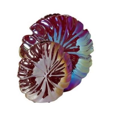керамическая ваза с радужным покрытием интерьерный декор