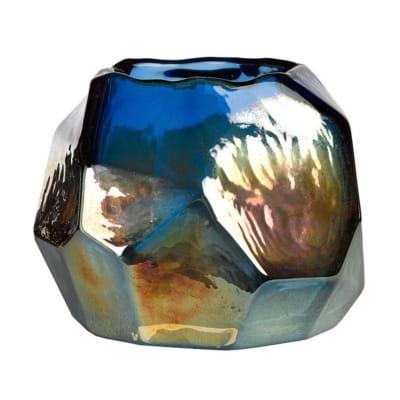 стеклянная ваза с радужным покрытием