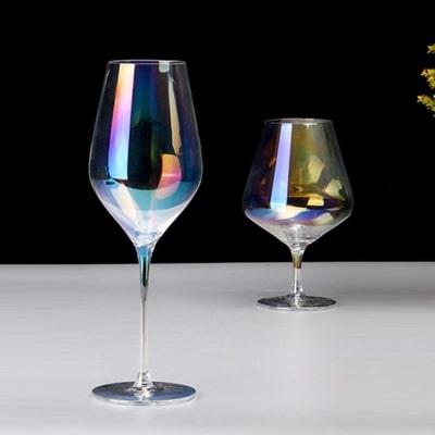 бокалы с радужным эффектом