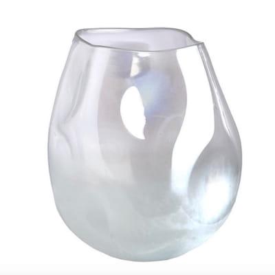стеклянная ваза с жемчужным покрытием