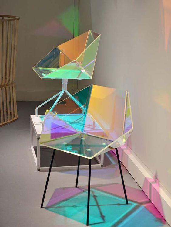 акриловая мебель с голографическим эффектом  фото