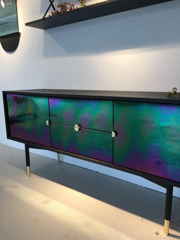 многоцветная окраска мебели хамелеон  фото