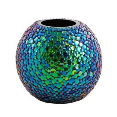 многоцветная радужная ваза настольная Radiance