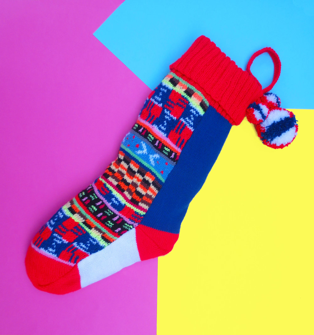 XMAS STOCKING - KNIT PATTERN