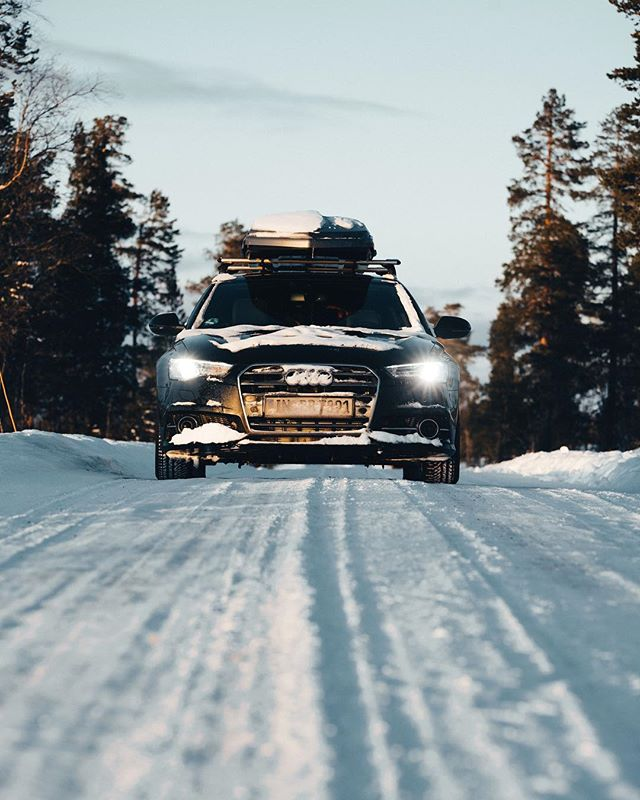 "World Cup in Sweden didn't go to plan, but always love going back to my fake ""home race"" every year. Almost can't believe I get an actual home race soon! But first, the next World Cup in Canada. Thanks again @audi, my car handles the Swedish snow a lot better than I did 😅"