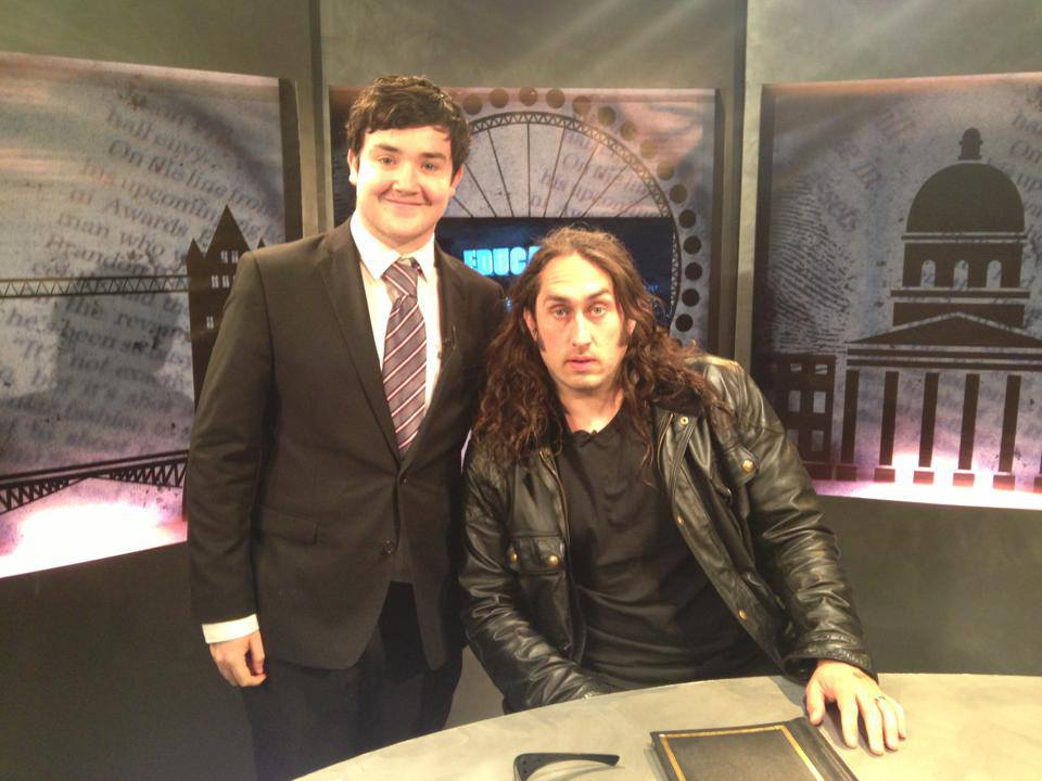 Jonny, with comedian Ross Noble