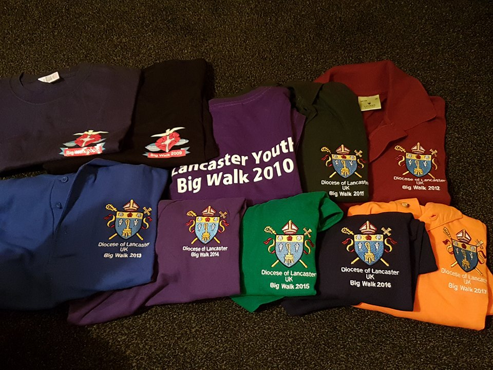10 years of Big Walk t-shirts!