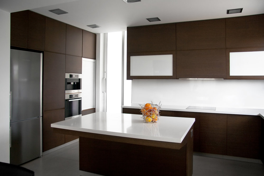 Wenge kitchen with island